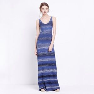 Vince Slub Cotton Spacedye Sleeveless Maxi Dress S